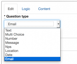 Email question type