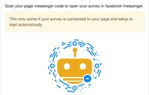 Survey messenger codes