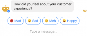 Survey options emojis