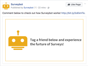 Chat bot Facebook Post