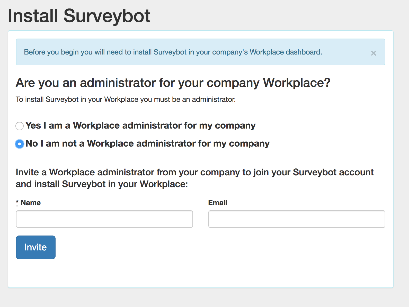chatbot survey Workplace integration